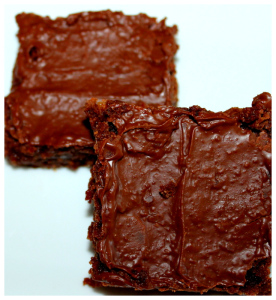 Chewy Fudgy Nutella Brownies