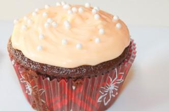 Chocolate Cupcakes with Orange Creamsicle Frosting