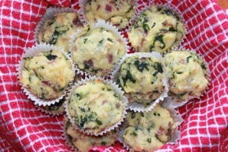 Spinach and Pepper Jack Muffins