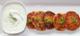 Curried Sweet Potato Cakes