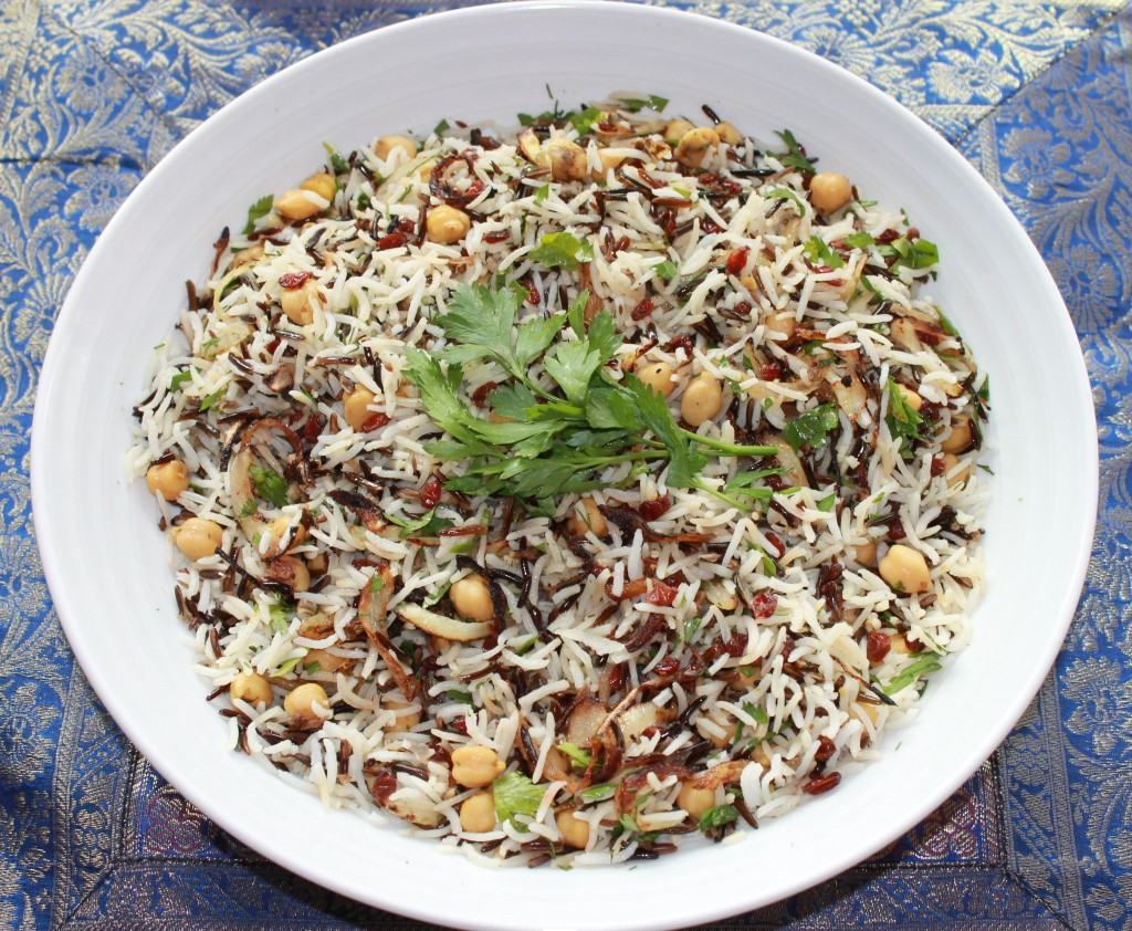 Jerusalem Cookbook Cover Recipe ~ Basmati wild rice with chickpeas currants and herbs