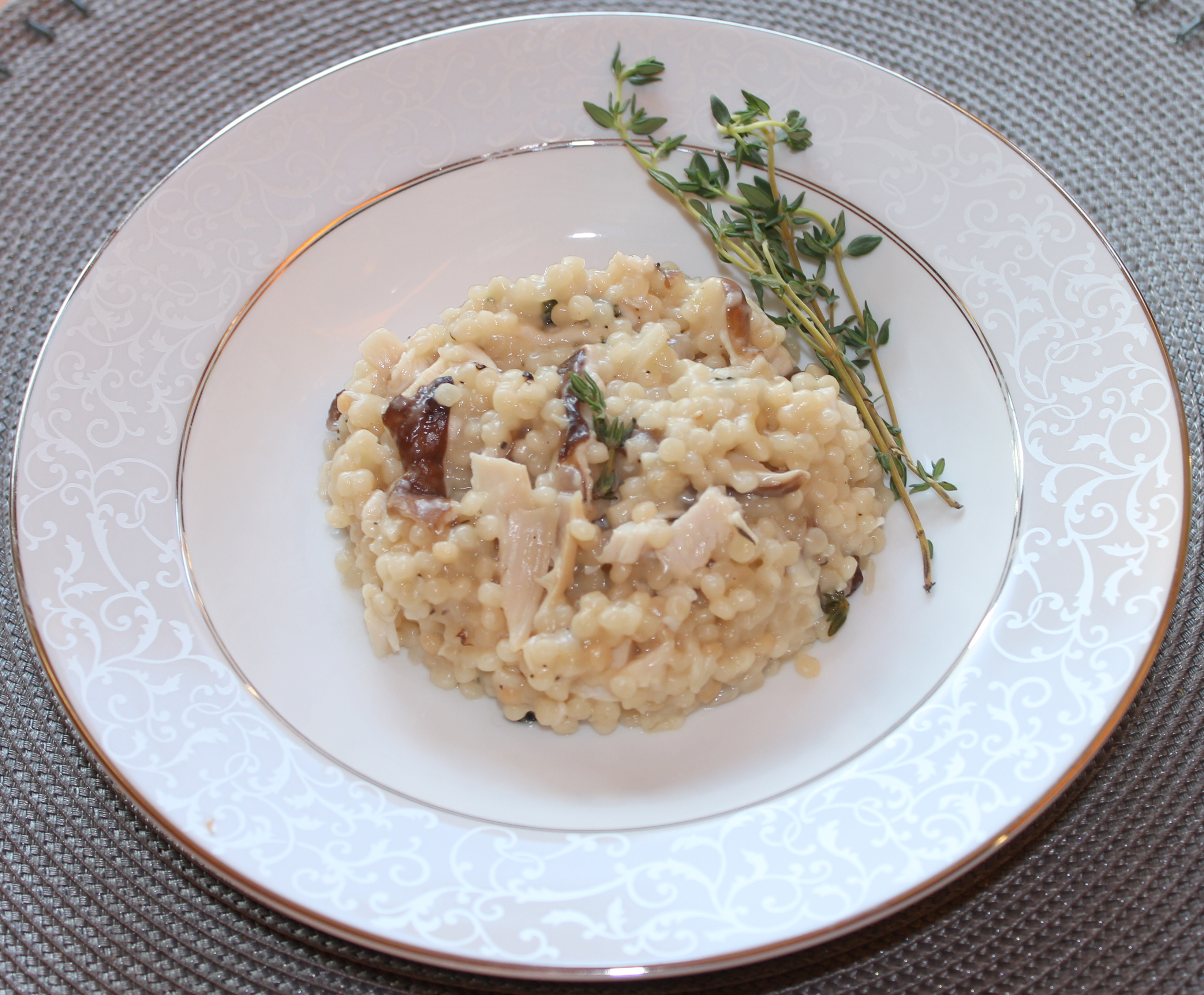... Leftover Recipe: Turkey and Mushroom Israeli Couscous Risotto