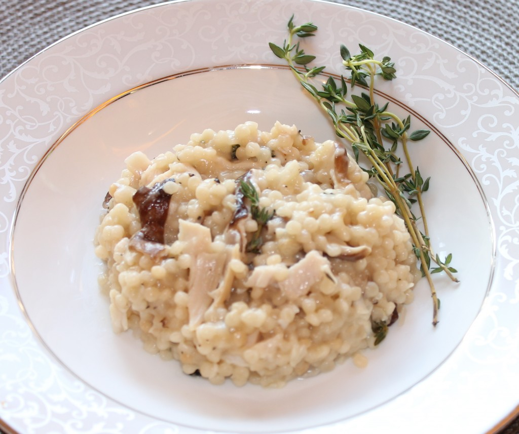 ... Leftover Recipe: Turkey and Mushroom Israeli Couscous Risotto 2