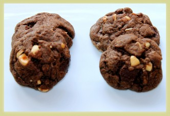 DoubDouble Chocolate Hazelnut Cookies
