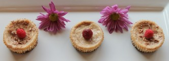 Mini White Chocolate & Raspberry Cheesecake