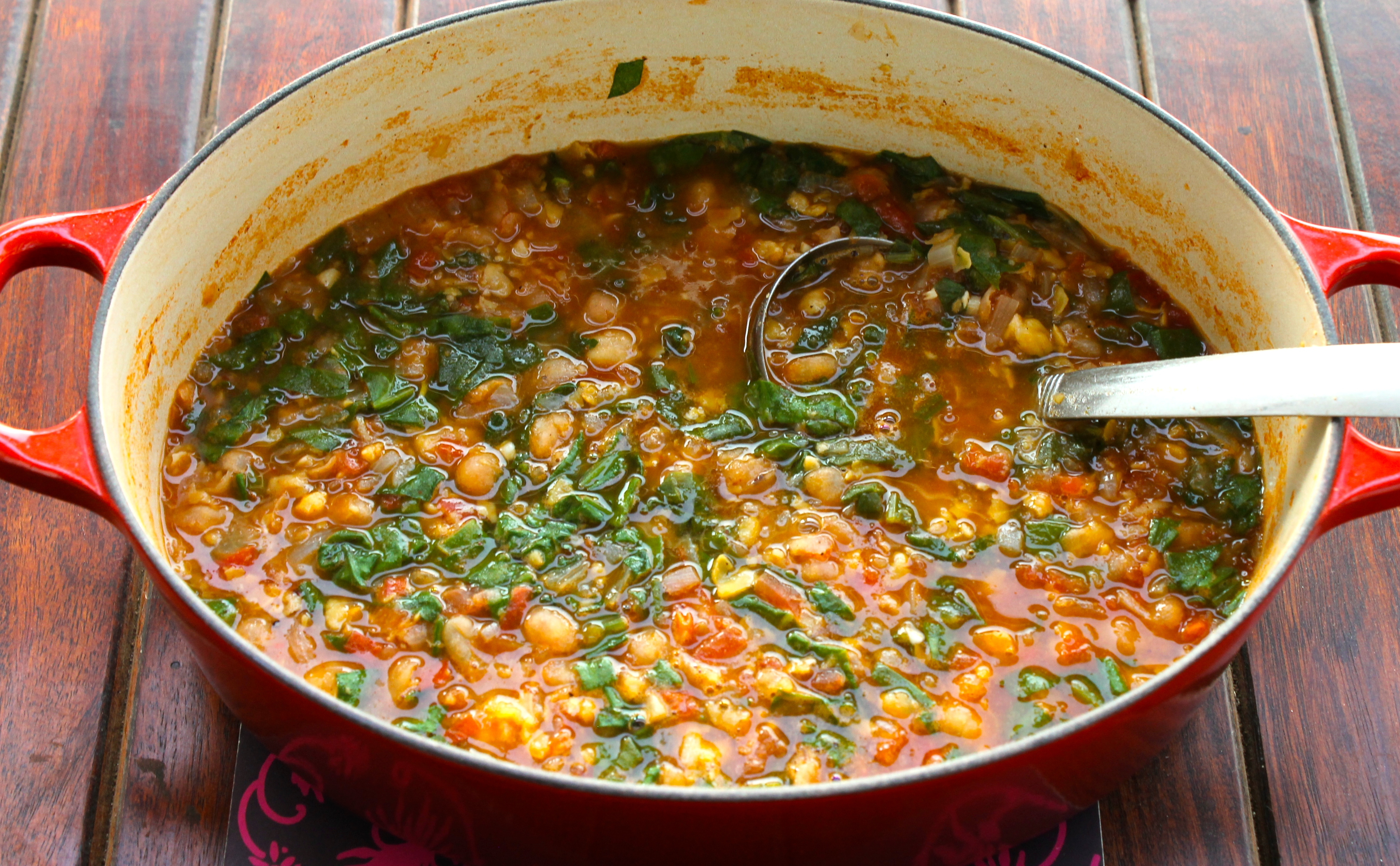 Moroccan Chickpea and Spinach Stew Recipe