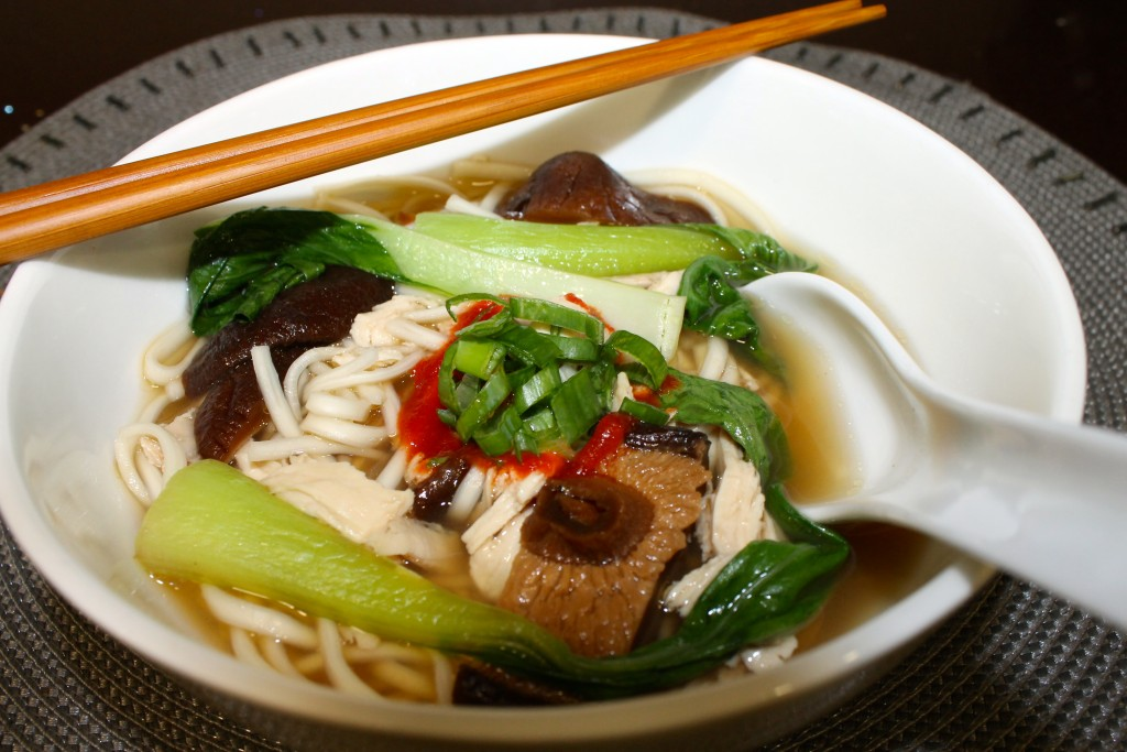 Chicken & Shiitake Udon Noodle Soup Recipe